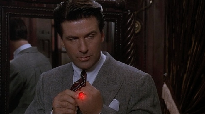 "Alec Baldwin as Lamont Cranston, with red mood ring, in ""The Shadow"" (1994)"