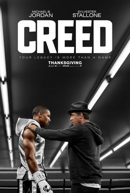 Creed poster, with Michael B. Jordan and Sylvester Stallone