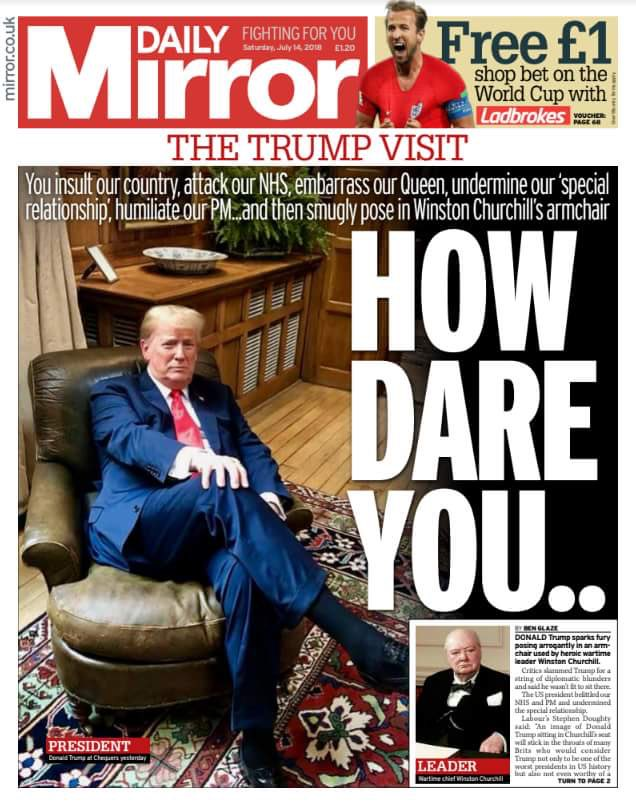 How dare you: Trump headline