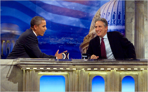 "Jon Stewart, Barack Obama, ""The Daily Show"""