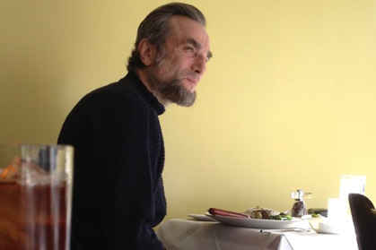 Daniel Day Lewis as Abraham Lincoln hanging out in a Confederate (Richmond, Va.) restaurant