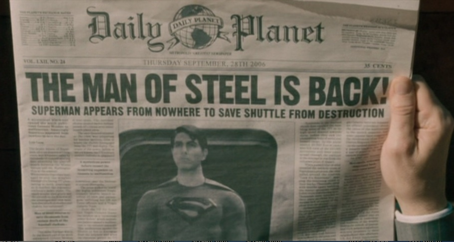 The Man of Steel is Back headline