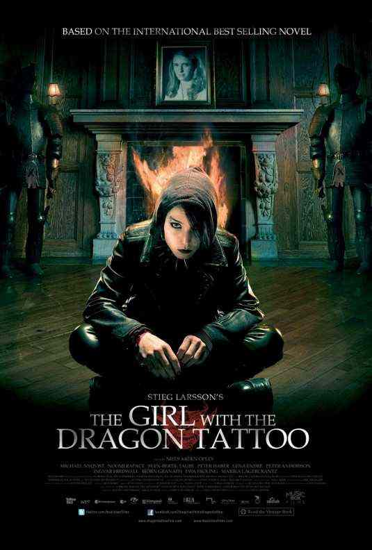 """The Girl with the Dragon Tattoo"" poster. With Noomi Rapace"
