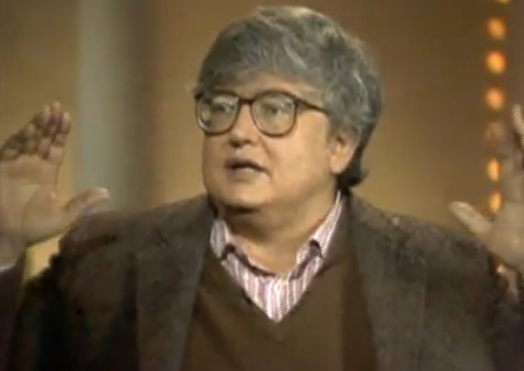Roger Ebert in 1987, mid-explanation