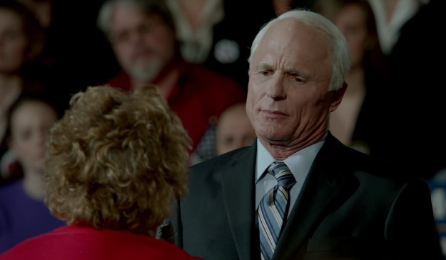 Ed Harris as John McCain: recreating the last moment the GOP tried to tamp down the worst rhetoric against Obama