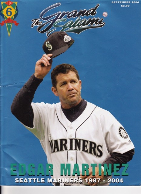 Edgar Martinez on his last Grand Salami cover before retirement: September 2004