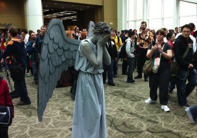 "The Angel from ""Dr Who"" at the Emerald City Comic Convention 2012"
