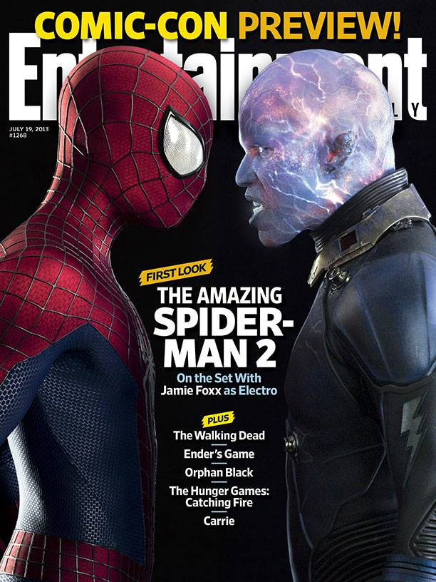 Entertainment Weekly: Spider-Man and Electro, Andrew Garfield and Jamie Foxx