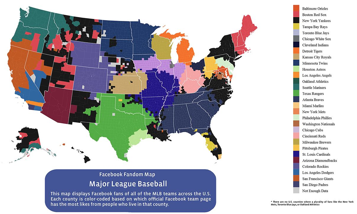 Facebook MLB fandom map