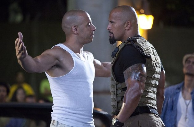 "Vin Diesel and the Rock about the rumble in ""Fast Five"""