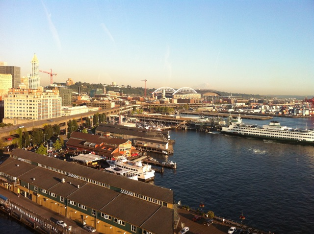 The southern view from Seattle's Great Wheel: August 2012