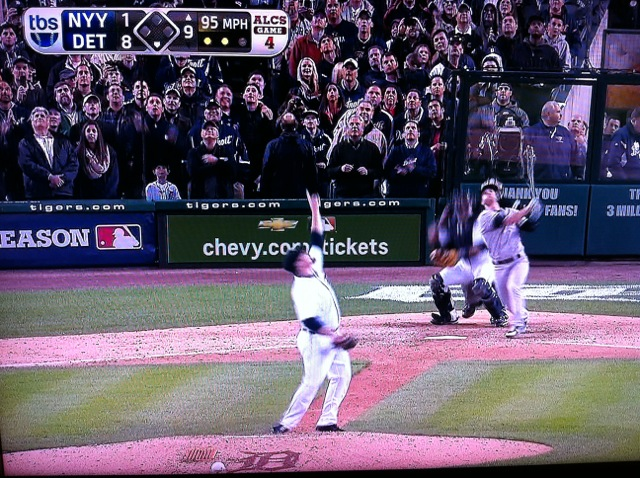 Final out of the 2012 ALCS: Tigers 8, Yankees 1
