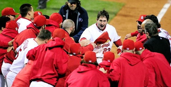 David Freese homers in the bottom of the 11th to send the World Series to a 7th game for the first time in 10 years.