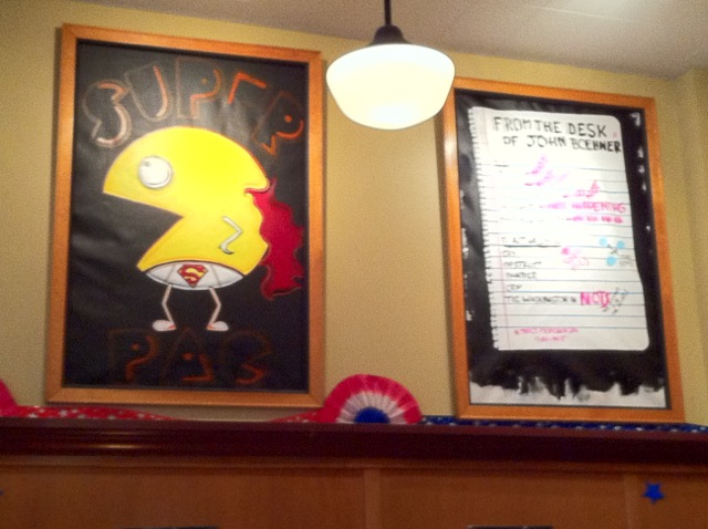 """From the desk of John Boehner"" at Five Spot restaurant in Queen Anne, Seattle"