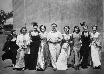 "George Cukor and the cast of ""The Women"""