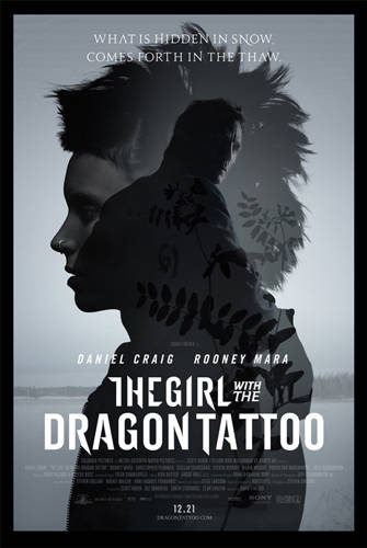 "Poster for the U.S. version of ""The Girl with the Dragon Tattoo"" (2011)"