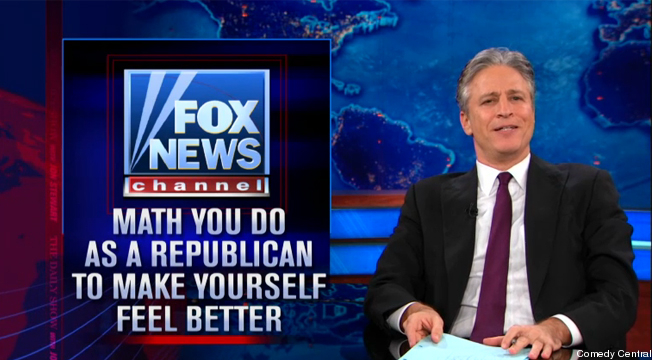 Jon Stewart on Fox News: Math You Do as a Republican to Make Yourself Feel Better