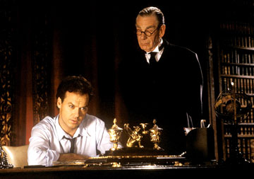 "Michael Gough and Michael Keaton in Tim Burton's ""Batman"" (1989)"