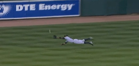 Catch by Curtis Granderson in Game 4 of the ALDS
