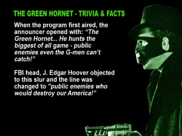 Green Hornet FBI slur