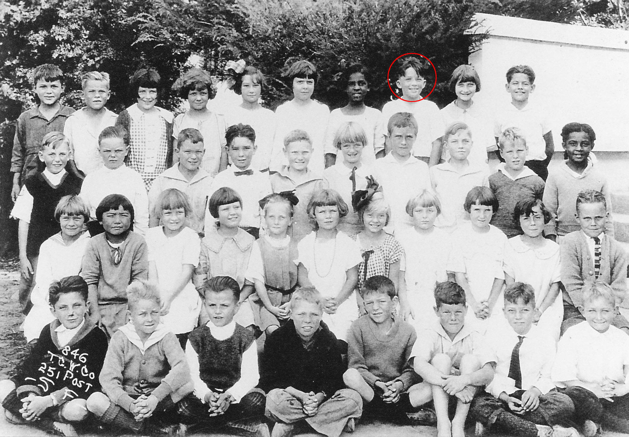 Gregory Peck in second grade, La Jolla, Calif.
