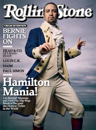 Lin-Manuel Miranda on the cover of the Rolling Stone