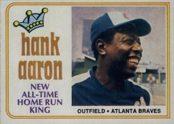 Hank Aaron homerun king baseball card