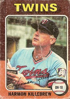 1975 Topps Harmon Killebrew card