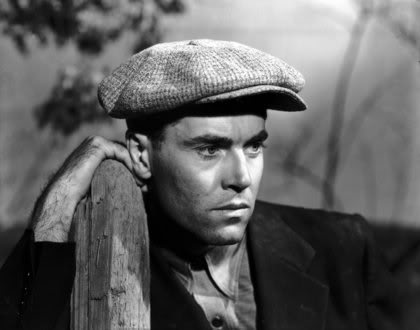 "Henry Fonda as Tom Joad in John Ford's ""The Grapes of Wrath"""