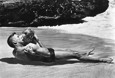 "Lancaster and Kerr in the beach scene in ""From Here to Eternity"" (1953)"