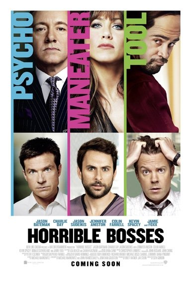"poster for ""Horrible Bosses"" (2011)"