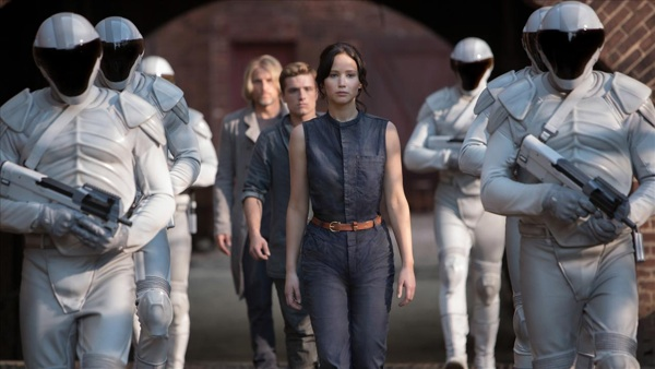 "Katniss in ""the Hunger Games: Mockingay—Part I"""