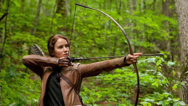 "Jennifer Lawrence in ""The Hunger Games"" (2012)"