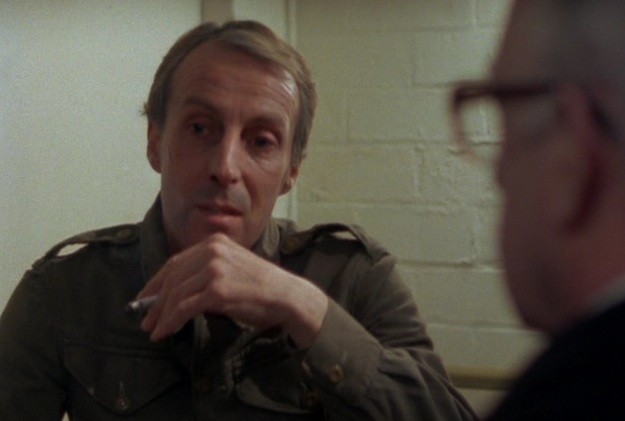 "Ian Richardson as Bill Haydon, Soviet spy, in the BBC miniseries ""Tinker Tailor Soldier Spy"""