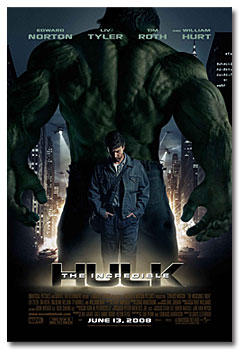 "Poster for ""The Incredible Hulk"" (2008) with Ed Norton"