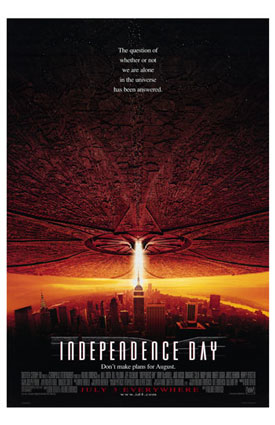 "poster for ""Independence Day"" (1996)"