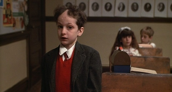 "The ""I sell tallises"" kid from Woody Allen's ""Annie Hall"""