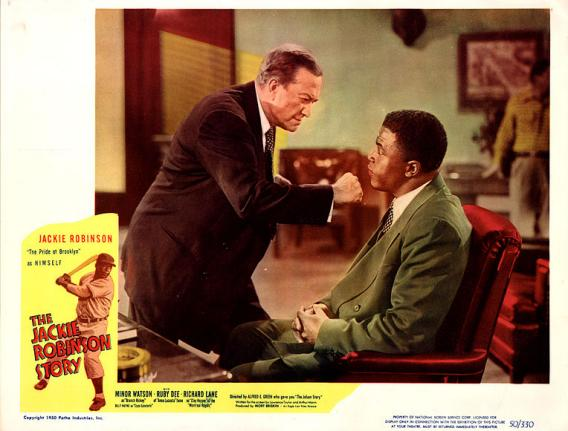 "Minor Watson and Jackie Robinson in ""The Jackie Robinson Story"" (1950)"
