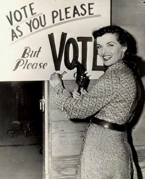 Jane Russell: Vote as you please, but please vote