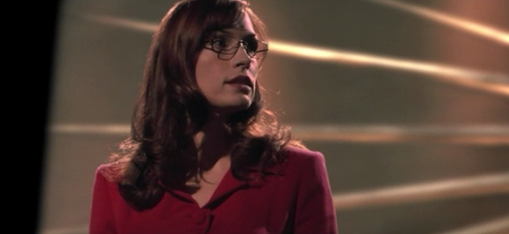 Jean Gray (Famke Janssen) loses the debate in 'X-Men' (2000)