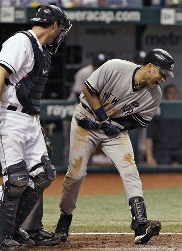Jeter, in 2010, improving his OBP.