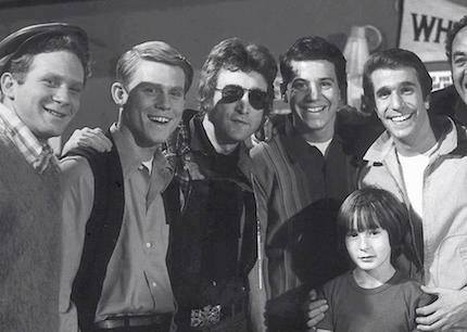 John Lennon on the Happy Days set