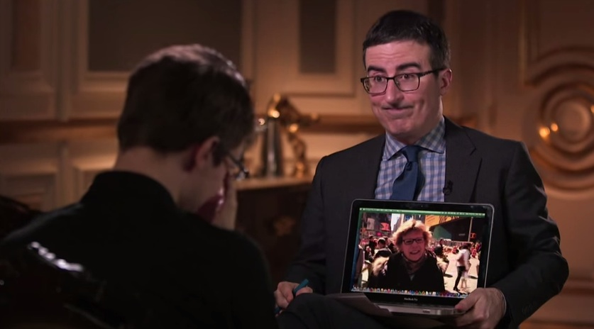 John Oliver and Edward Snowden