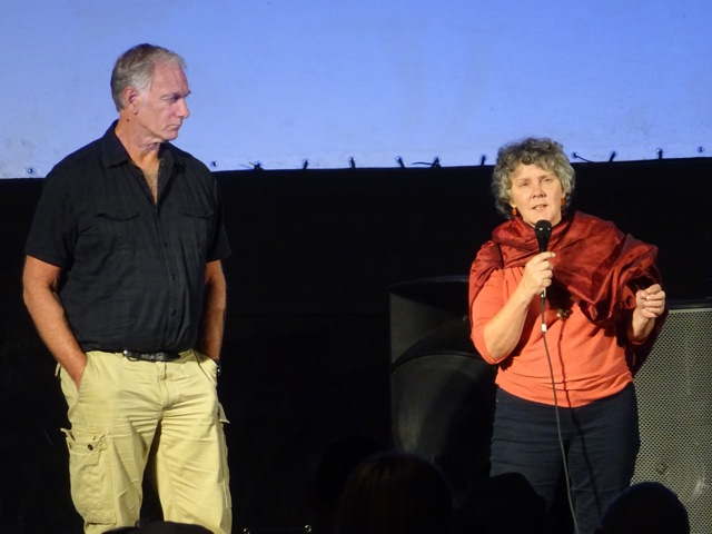 John Sayles and Maggie Renzie during the Port Towsend Film Festival