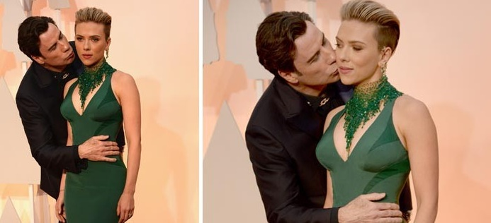 Scarlett Johansson and John Travolta: red carpet moment