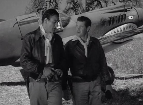 "John Wayne and Paul Kelly in ""Flying Tigers"" (1942)"