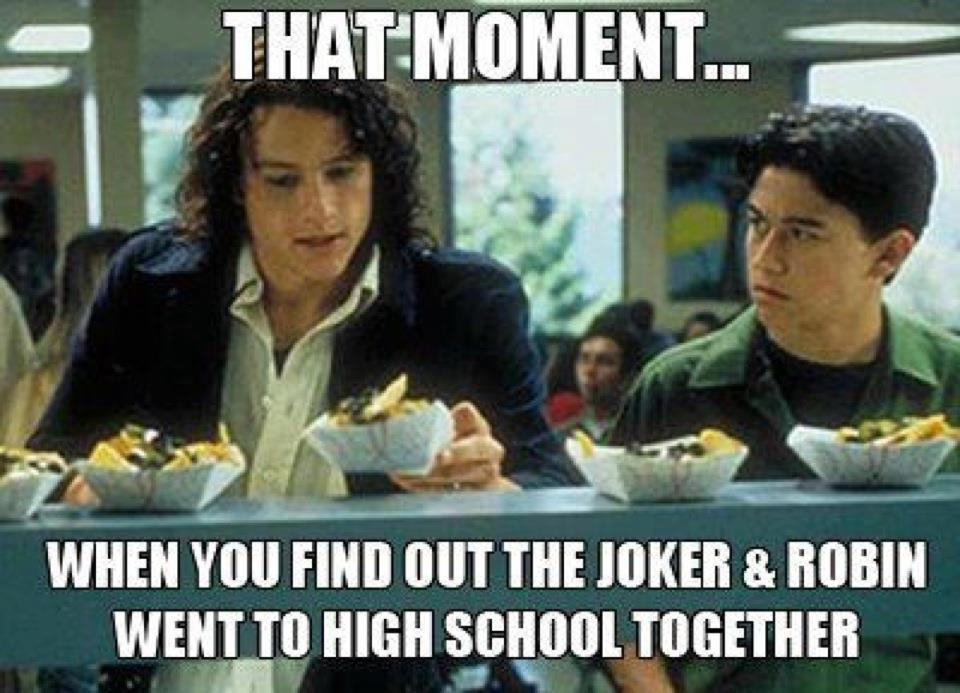 When the Joker and Robin went to school together