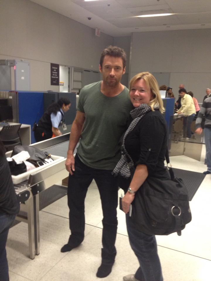 Hugh Jackman at the Toronto airport