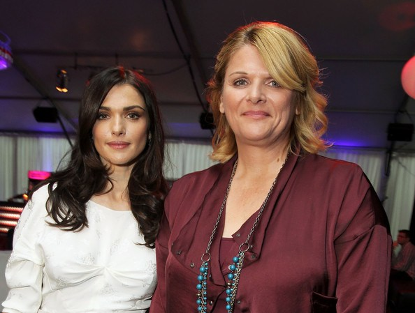 Rachel Weisz and Kathryn Bolkovac at the premiere of 'The Whistleblower'