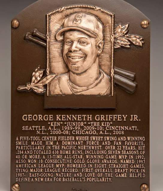 Ken Griffey Jr. Hall of Fame plaque